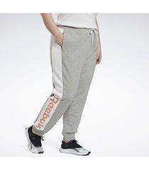 sweater reebok sport linear logo french terry broek (plus size)
