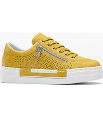 sneaker con plateau rieker (giallo) - rieker