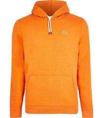 river island mens orange ri slim fit hoodie