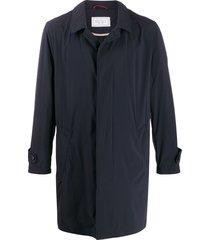 brunello cucinelli single-breasted midi coat - blue
