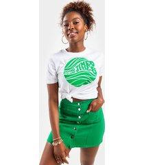 rachel button front mini skirt - green