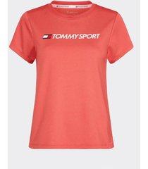 polera t-shirt chest logo rojo tommy sport