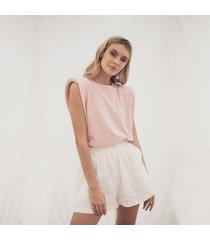 t-shirt rosada para mujer muscle tee emma muscle tee emma rosado-l