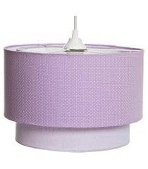lustre tubular duplo potinho de mel lilás