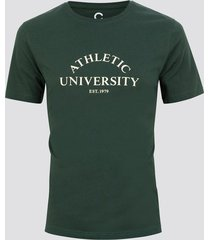 t-shirt med print - grön