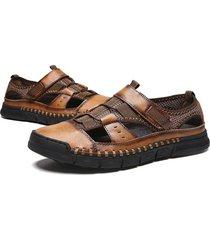 sandalias cómodas zapatos de playa para hombres zapatos de cuero antideslizantes suaves para hombres