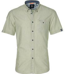 lerrros overhemd - modern fit - groen