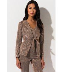 akira all about you metallic blazer jacket
