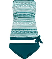 tankini a fascia (set 2 pezzi) (verde) - bpc bonprix collection