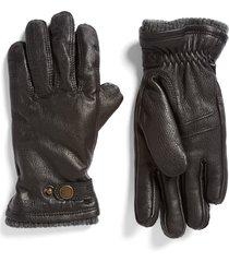 men's hestra utsjo leather gloves, size small - black