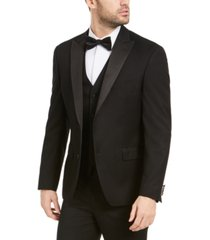 alfani men's slim-fit stretch black tuxedo jacket, created for macy's