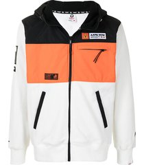 aape by *a bathing ape® colour-block panel jacket - white