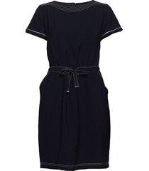 dress short 1/2 sleeve knälång klänning blå betty barclay