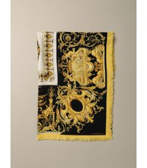versace neck scarf versace silk and cashmere foulard with baroque print