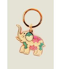 llavero metálico para mujer elefante