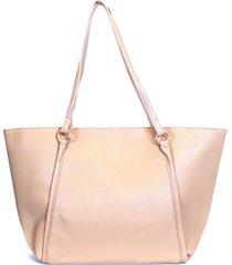 shopping bag emporionaka clássica bege - tricae