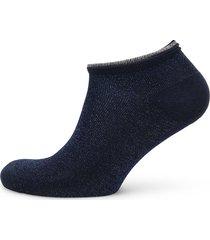 dollie solid footies träningssockor/ankle socks blå becksöndergaard