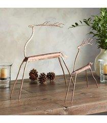 copper top reindeer, set of 2