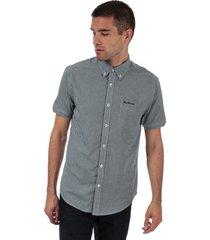 mens gingham short sleeve shirt