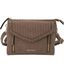 cartera vanja cross chocolate hush puppies