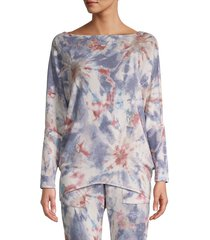 allison new york women's tie-dyed pullover sweater - blue - size l