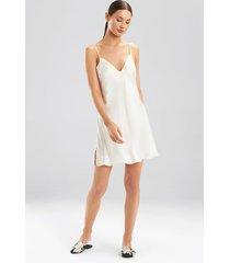 ava chemise pajamas, women's, white, 100% silk, size l, josie natori