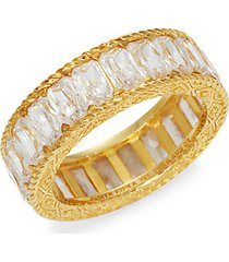 goldplated sterling silver & cubic zirconia ring
