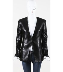 balmain black wool blend jacket