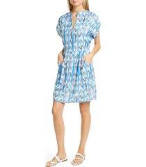 women's emporio armani brushstroke print techno crepe dress