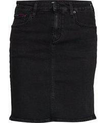 classic denim skirt frzbk kort kjol svart tommy jeans