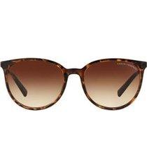 óculos de sol armani exchange redondo ax4048sl feminino
