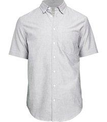 zadig & voltaire men's swan skull-embroidered short-sleeve shirt - noir grey - size 14 36