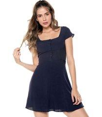 vestido azul navy glamorous