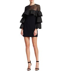 valentina tiered sleeve mini dress