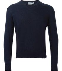 fashion clinic timeless v-neck sweater - blue