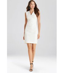 natori solid jacquard dress, women's, white, size 4 natori
