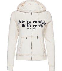 anf womens sweatshirts hoodie trui wit abercrombie & fitch