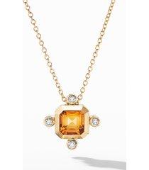women's david yurman novella pendant necklace in 18k yellow gold with diamonds