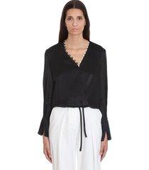 3.1 phillip lim blouse in black viscose