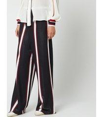 golden goose deluxe brand women's sophie pants - navy white/red stripes - m - blue