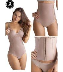 kit body amamentação cinta abdominal e cinta pós parto tivesty chocolate