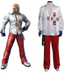 tekken 5 steve cosplay costume men adult halloween birthday outfit