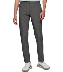 boss men's extra-slim-fit stretch-cotton trousers