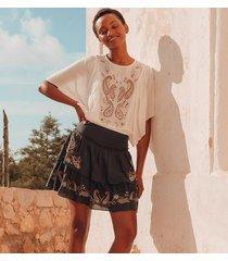 damska haftowana spódnica
