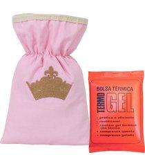 bolsa térmica padroeira baby princesinha luxo rosa