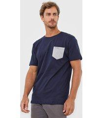 camiseta yachtsman bolso azul-marinho