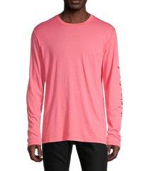 zadig & voltaire men's long-sleeve cotton tee - pink - size m