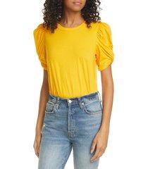 women's a.l.c. kati puff sleeve tee, size x-large - yellow