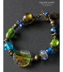 bransoletka ze szkła weneckiego, handmade