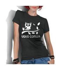 camiseta criativa urbana frases vovó coruja